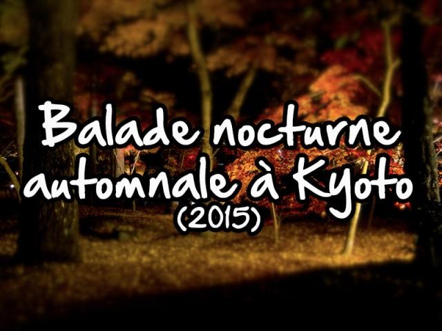 balade noctune automnale à Kyoto 2015