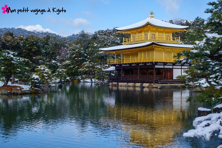 Kinkaku-ji neige et soleil