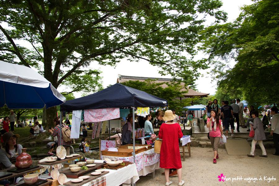Marché artisanal du sanctuaire Kamigamo