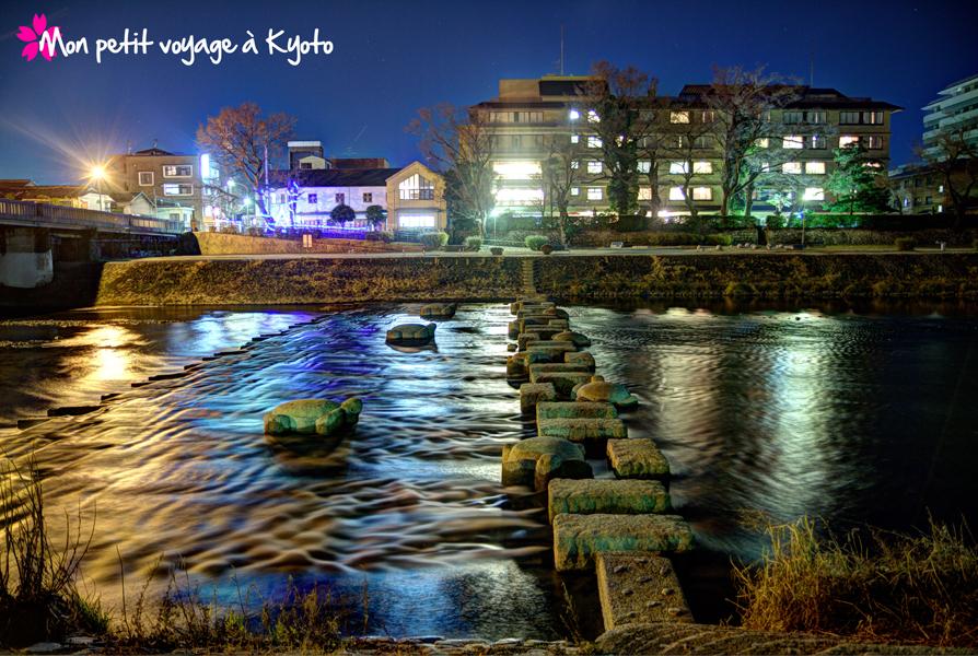 Kamogawa de nuit