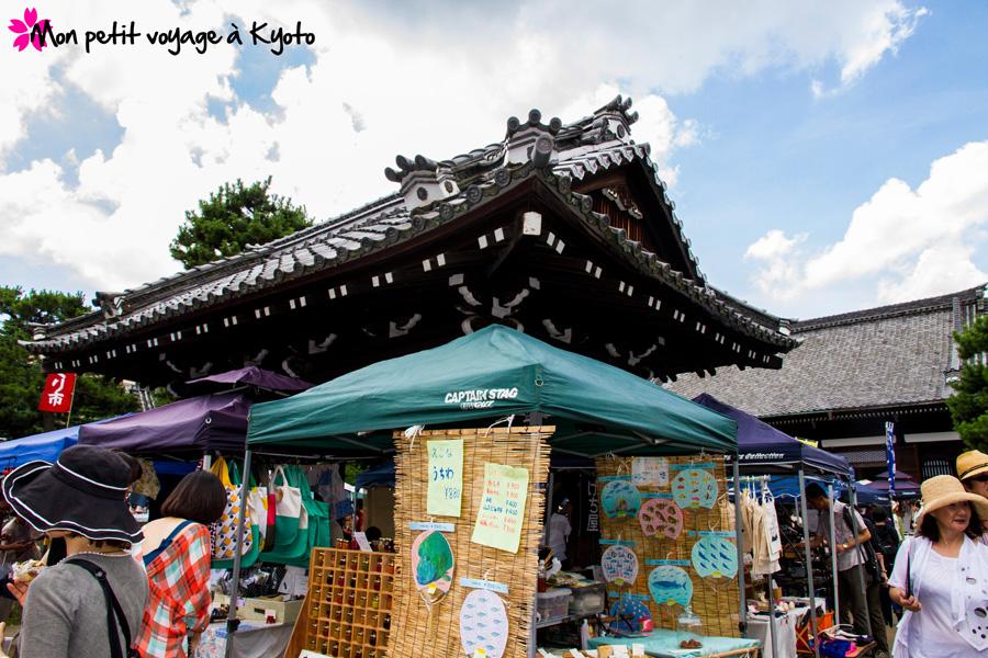 Marché artisanal du temple Chion-ji