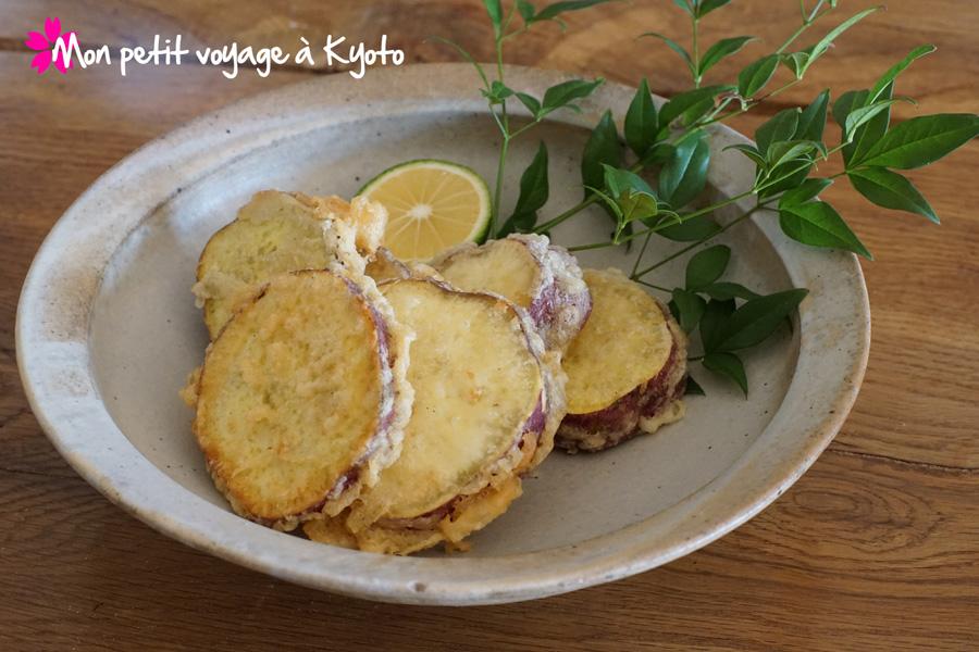 Tempura de patate douche